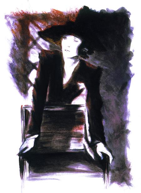 Illustration de personnage Marlène Dietrich - Dominique Evangelisti