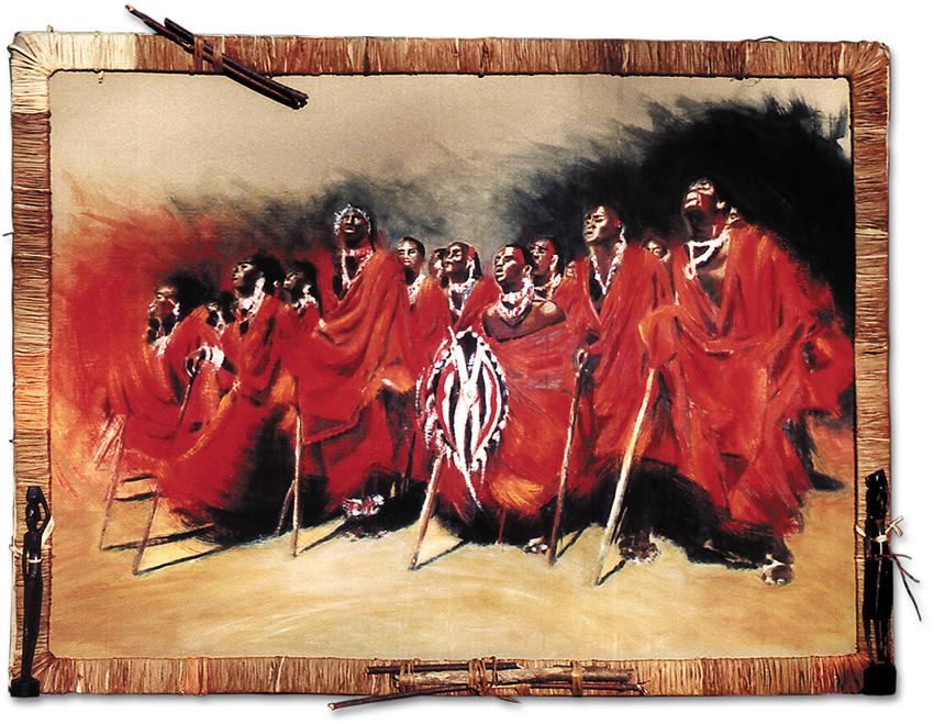Massaï - peinture