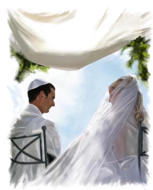 Illustration personnages - Mariage sous la Houppa - Dominique Evangelisti