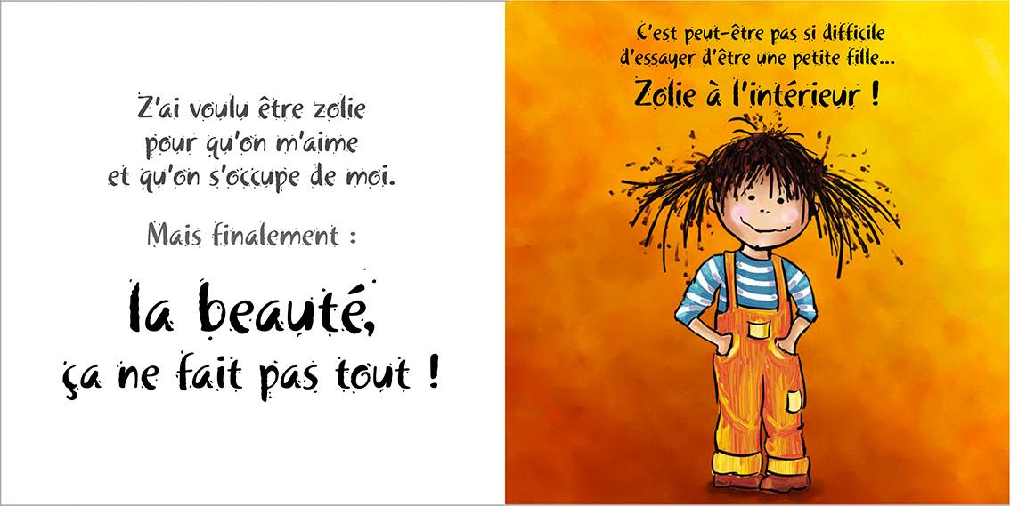 Album pour enfants-Zoé apprend à grandir Tome 3-Dom Evangelisti-Zolie à l'intérieur
