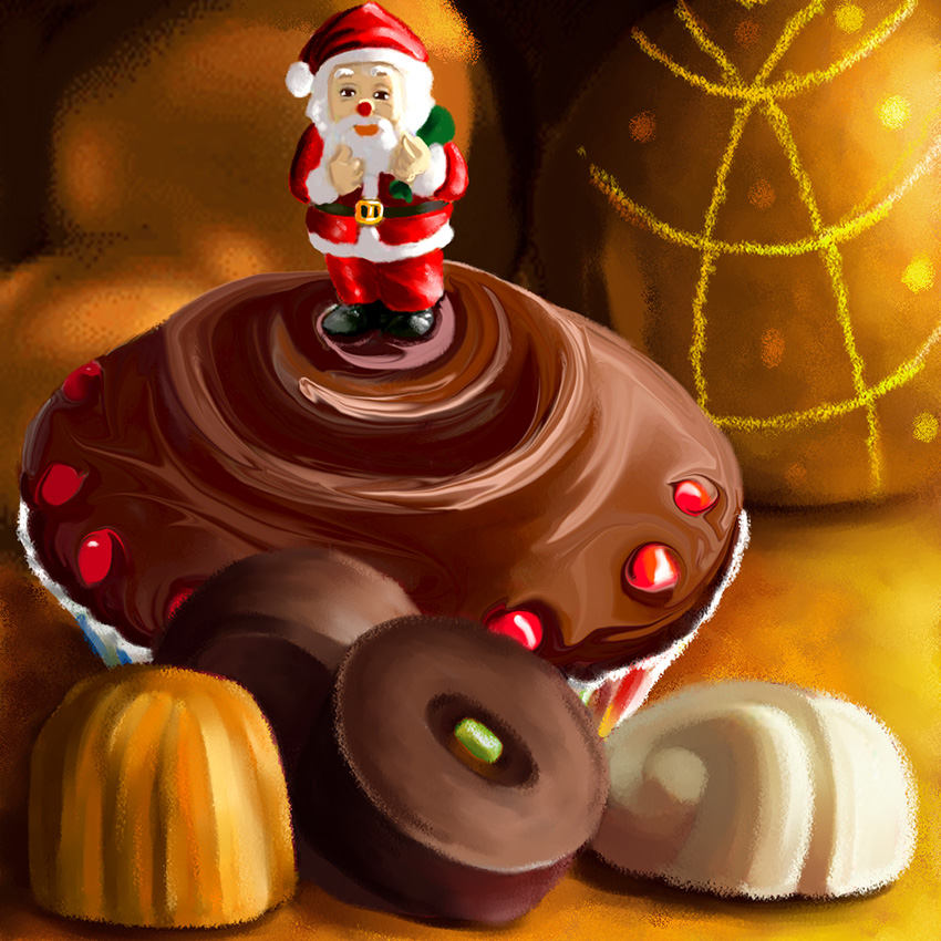 Illustration de Noël Dominique Evangelisti-chocolats