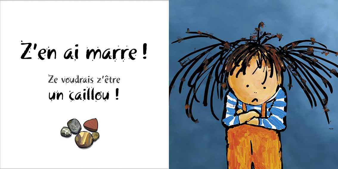 Album pour enfants-Zoé apprend à grandir Tome 2-Dom Evangelisti-Z'en ai marre Caillou