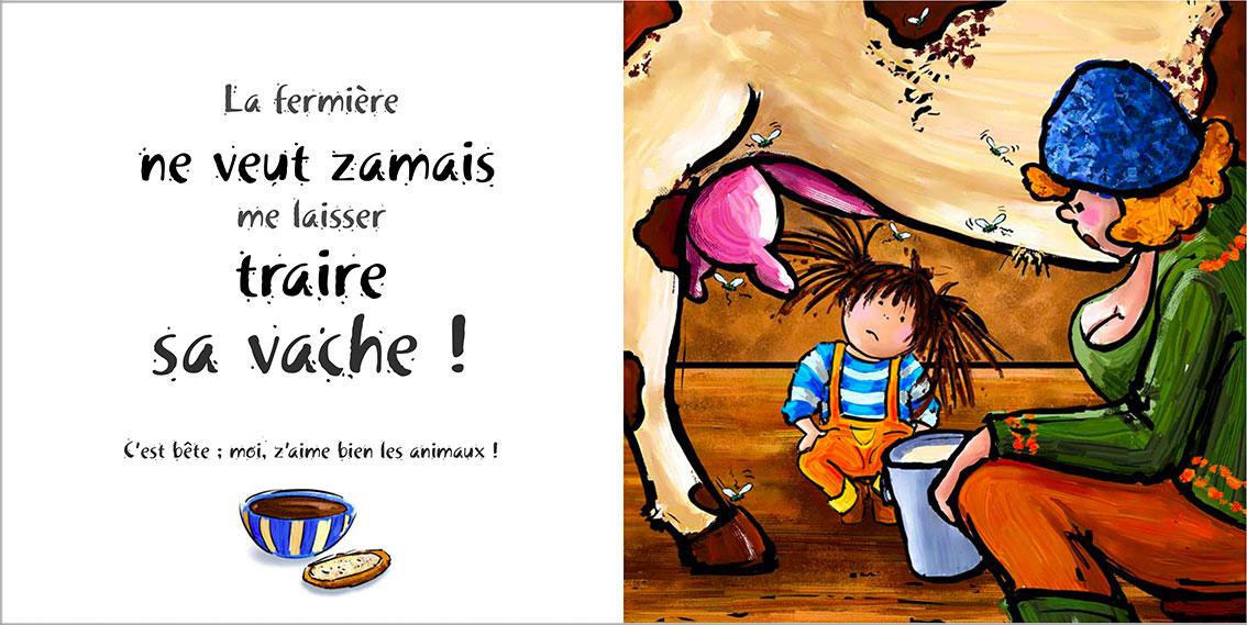 Album pour enfants Zoé-Dom Evangelisti : Fermière