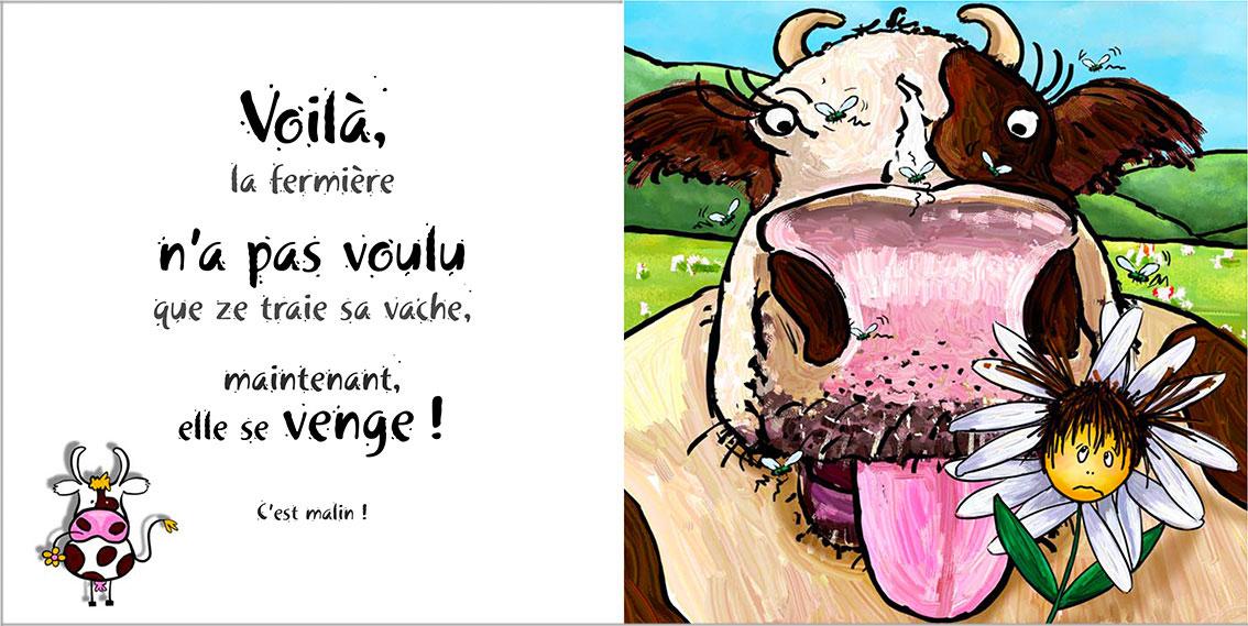 Album pour enfants Zoé-Dom Evangelisti : vache