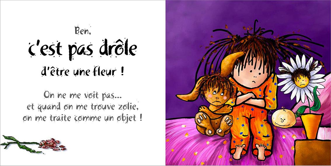 Album pour enfants Zoé-Dom Evangelisti :Fleur