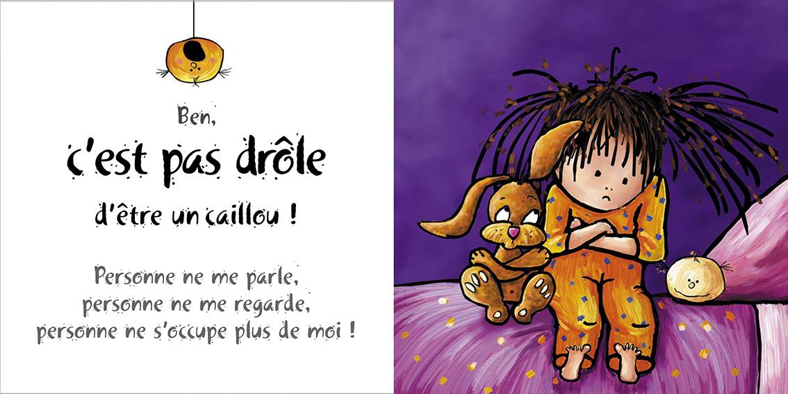 Album pour enfants-Zoé apprend à grandir Tome 2-Dom Evangelisti-Pas drôle caillou