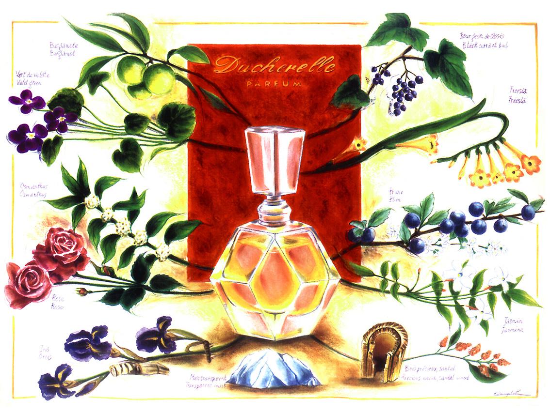 Poster parfum Ducherelle