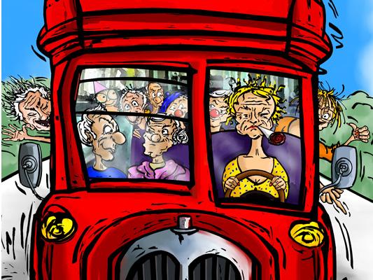 BD - Un bus pour Étretat - Thierry Farcy et Dom Evangelisti