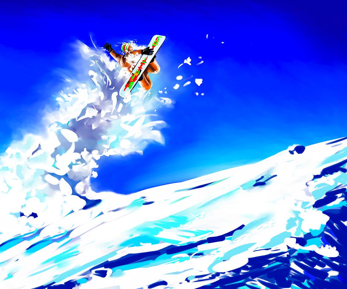 Club med - Affiche vitrine - Surfer