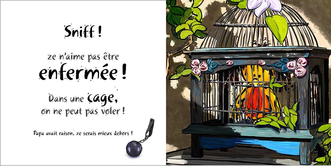 Album pour enfants Zoé-Dom Evangelisti : Cage à oiseaux tome 4