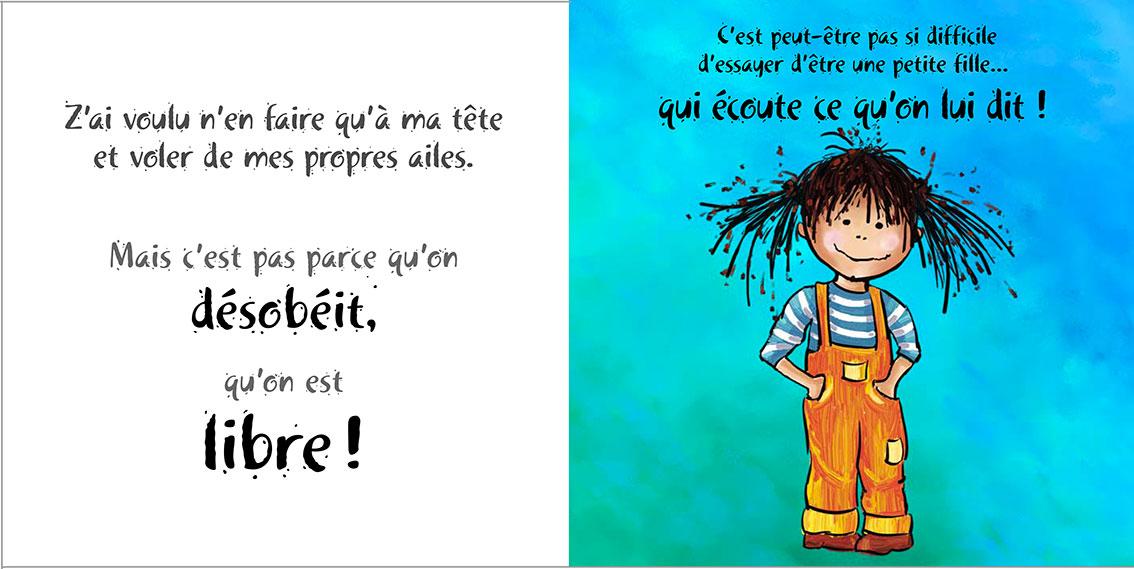 Album pour enfants Zoé-Dom Evangelisti : Libre