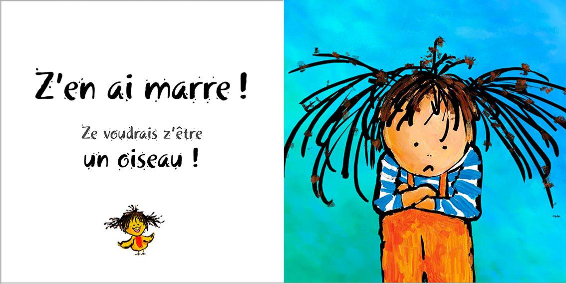 Album pour enfants Zoé-Dom Evangelisti : Z'en ai marre Oiseau