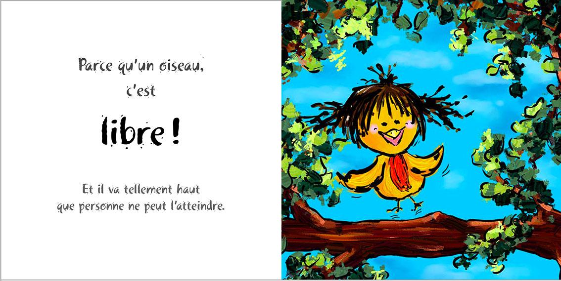 Album pour enfants Zoé-Dom Evangelisti : Oiseau libre