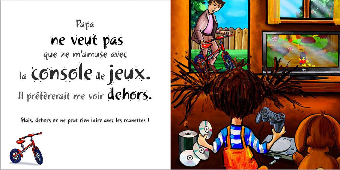 Album pour enfants Zoé-Dom Evangelisti : Papa jeux