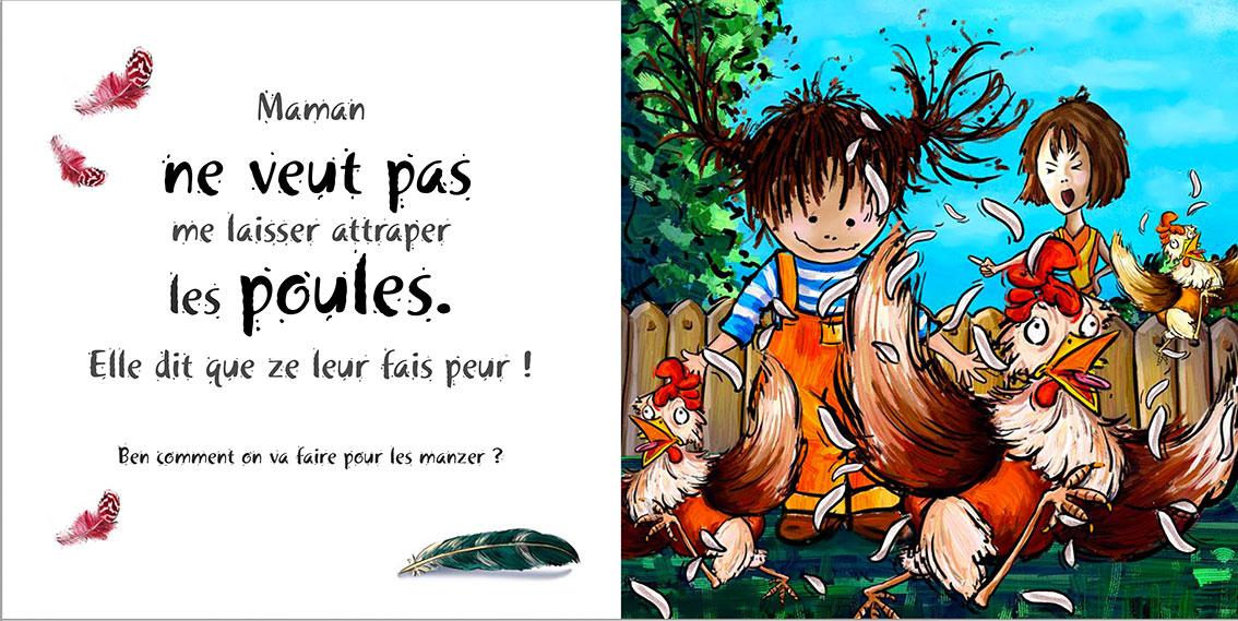 Album pour enfants Zoé-Dom Evangelisti : Poules