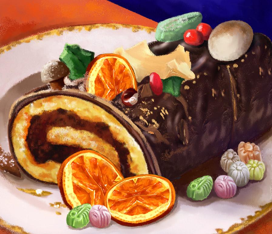 Buche-chocolat-biscuit