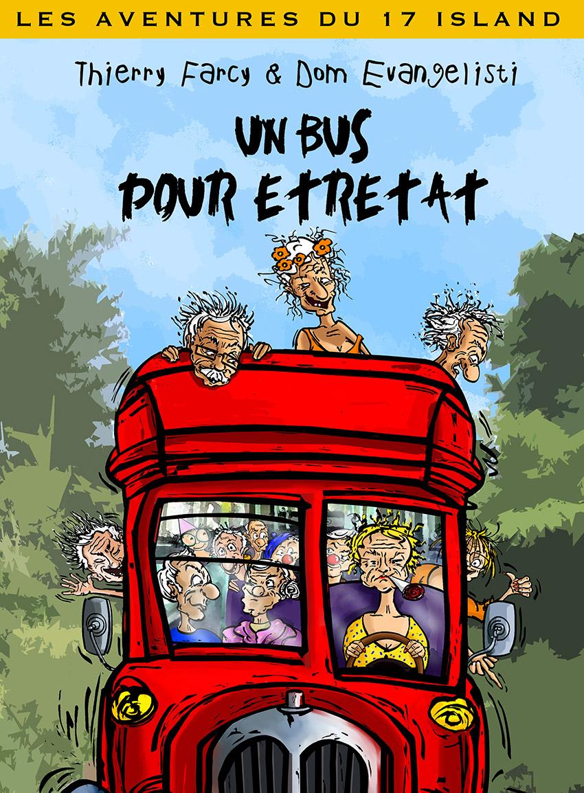 IIllustrations et Peintures-Projets - BD - Un bus pour Étretat