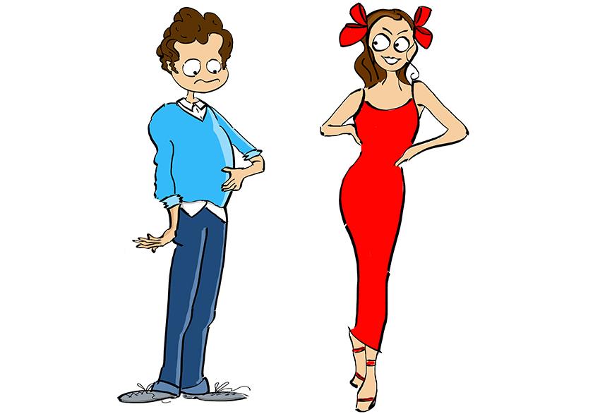 Illustration de personnage - Un homme et une femme